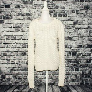 A.L.C Pullover Sweater Open Cable knit Beige